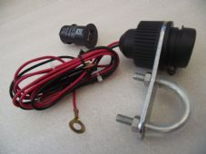Handlebar mounted power switch for sat nav, phone, ipod, with usb adaptor 12v